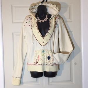 Free People Rare Embroidered Hoodie